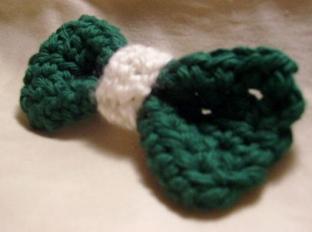 Green Hair Bows